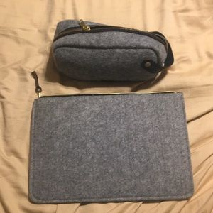 Laptop case and pencil case set